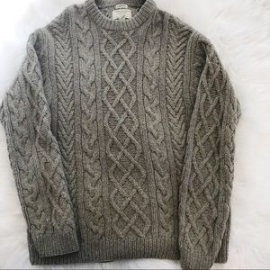 American Eagle Hand Knit Wool Fisherman's Sweater